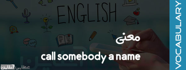معنی call somebody a name