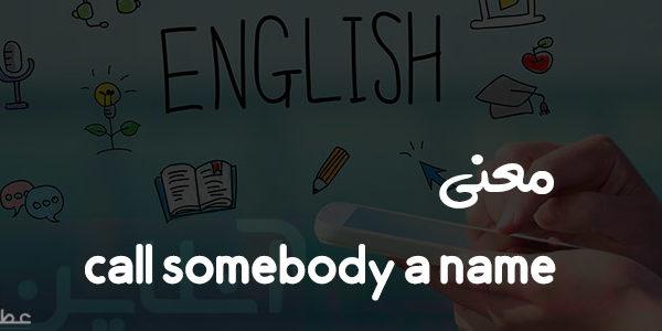 معنی call somebody a name